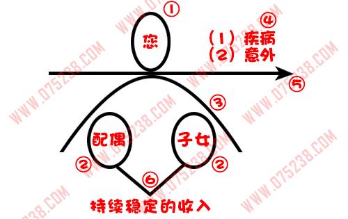 平安人寿保险之家庭保障图介绍关键句讲解按步骤画图边画边讲解(1)